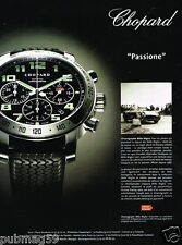 Publicité advertising 2005 La Montre Chopard Chronographe Mille Miglia