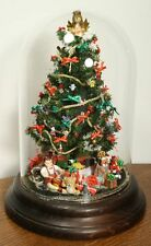 Vintage Miniature Christmas Tree Diorama Ornament. Bell Dome Glass Jar WESTRIM?