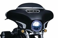 "NEW Kuryakyn Chrome 7"" Headlight LED Halo Trim Ring Bezel for Harley 6917"