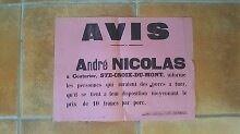 Affiche PUBLICITÉ - 290716 - STE CROIX DU MONT (GIRONDE) AVIS abattage de porc