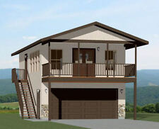 20x32 House -- 1 Bedroom -- 4:12 Roof Pitch -- PDF Floor Plan -- Model 7E