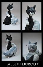Les chat de Albert Dubout scultura * La charmeuse *