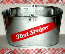 RED STRIPE JAMAICAN BEER ICE BAR SNACK METAL LARGE BUCKET OVAL PARTY COOLER NEW