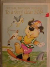 SMALL Greeting card SPECIAL BIRTHDAY WISHES To a very dear SON