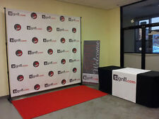 Step and Repeat  Red Carpet Backdrop Banner 10'W x 8'H + Stand