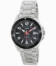 Casio MTD1074D-1A Mens Stainless Steel 100M Sports Watch Black Dial NEW
