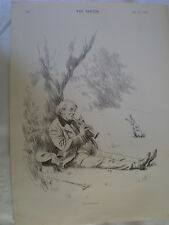 Orfeo 1894 antiguos impresión Viejo Silbato Y Conejo mi ref R