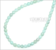 """15.8"""" Natural Amazonite Faceted Round Beads 6mm #22136"""