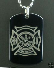 FIRE Department Fireman logo  Dog Tag Pendant Necklace