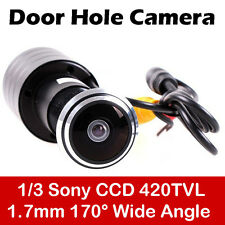 170 Wide Angle CCD Wired Mini Door Eye Hole Peephole Video Camera Color CCTV WW