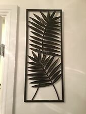 Contemporary Metal Wall Art Decor Sculpture - Elegant Flower Oak Leaf Panel
