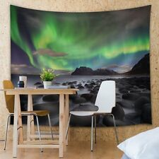 View of the Northern Lights - Fabric Tapestry, Home Decor - 51x60 inches