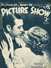 PICTURE SHOW, 24 February 1934, George Raft, Charles Laughton, Robert Donat   *