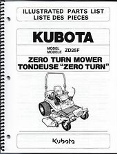 Kubota ZD25 Zero Turn Mower Illustrated Parts Manual
