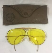 Bausch & Lomb Ray-Ban Aviator Shooting Glasses With Yellow Lenses And Case