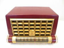 VINTAGE 1950s OLD RAYMOND LOEWY EMERSON BAKELITE RADIO & A RARE FM TUBE CHASSIS
