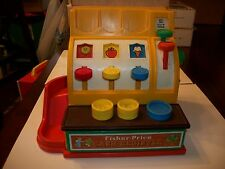 Vintage 1974 Fisher Price Cash Register 926  with 3 Coins