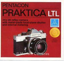 Praktica Ltl de 35 mm cámara y lente folleto de ventas. más catálogos indicados
