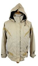 Q048 Skila Mens SKYTEX Waterproof Windproof Hooded Beige Jacket, Medium