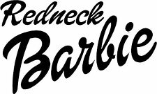 redneck Barbie Sticker (available in several vinyl colors, and Barbie Pink ! )