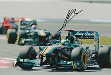Heikki Kovalainen Hand Signed Lotus 12x8 Photo F1 2.