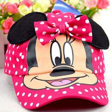 Kids Snapback Baseball Cap Girls Boys Hero Mickey Minnie Hip Pop Adjustable Hat