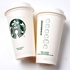 2 pack starbucks blanc réutilisable travel mug/tasse/gobelet grande moyen 16Oz 473Ml