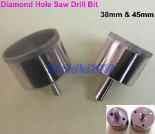 2Pcs Diamond Tool Drill Bit Ceramic Tile Glass Hole Saw SET 1 1/2 & 1 3/4 inch