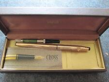 Cross Füllfederhalter in 14 karat vergoldet mit Konverter+ Werbung in Box