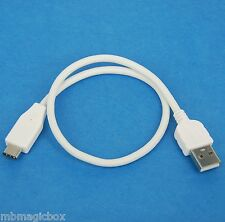 1ft 0.3M 30cm SHORT USB 2.0 Type A to Type C Data Charger Cable WHITE for HTC 10