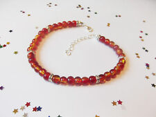 Pretty Real Glass Bead Ankle Bracelet