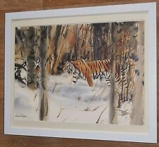Tiger print -20''x16'' frame, Tiger wall art, Snow Emperor, Lionel Jeans print