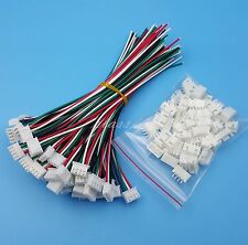50Sets XH2.54 4Pin Single-Head Wire To Board Connector 15cm 24AWG With Socket