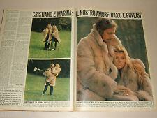 MARINA OCCHIENA ricchi e poveri clipping articolo foto photo 1973 OGGI