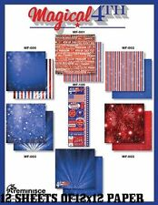 "REMINISCE ""MAGICAL 4TH"" 12X12 PAPER  JULY 4TH  PATRIOTIC 2105 SCRAPJACK'S PLACE"