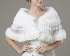 Bride cloak shawl Rhinestone White/Ivory wedding Lace Shrug Stole cape wrap Coat