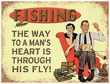 Fishing The Way To A Man's Heart... funny fridge magnet   (og)