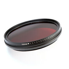 52mm Infrared IR Pass X-Ray Lens Filter Variable Adjustable From 530nm to 750nm