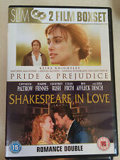 Keira Knightley SHAKESPEARE IN LOVE / PRIDE AND PREJUDICE   2-Disc UK DVD