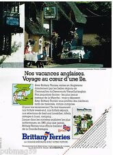 Publicité Advertising 1991 Brittany Ferries