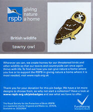 RSPB Pin Badge | Tawny Owl | GNaH backing card [00596]
