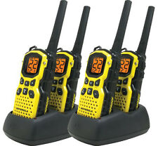 4 Motorola Talkabout MS350R FRS GMRS 2-WAY Radios Walkie Talkie WATERPROOF Ni-MH