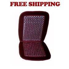 Brand New Universal Fit Wood Beaded Seat Cushion Color Burgundy Red