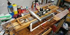 Vintage wood rc boat, gas outrigger project with engine