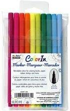 Marvy Uchida Color In Markers Fine Tip 4400F-10B - BRIGHT