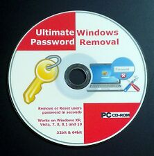 Windows password recovery/supprimer/reset cd disque pour xp, vista, 7, 8 et 10