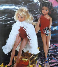 Sindy/Barbie Knitting Pattern Vintage Teen/ Doll Swimsuit/Cloak Swimwear R13248.