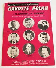 Partition sheet music PRIVAT / LARCANGE : Gavotte Polka * 60's Accordéon