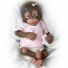 Ashton Drake - Little Umi Little Bit Of Lovin Baby Monkey Doll by Wendy Dickison