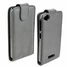 Flip Leather Phone Skin Black Cover Pouch Case Accessories For HTC Desire 320
